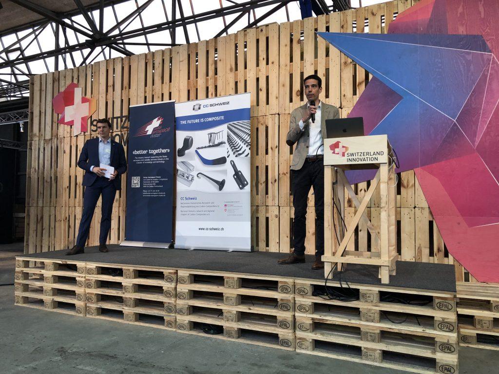 Erik Linden, Swiss Aeropspace Cluster (links); Steve Mérillat, Carbon Composites Schweiz (rechts)